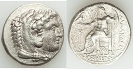 MACEDONIAN KINGDOM. Alexander III the Great (336-323 BC). AR tetradrachm (25mm, 16.69 gm, 10h). VF. Lifetime or early posthumous issue of Aradus, ca. ...