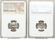 MACEDONIAN KINGDOM. Alexander III the Great (336-323 BC). AR drachm (19mm, 4.15 gm, 11h). NGC Choice XF 5/5 - 4/5. Posthumous issue of Miletus, ca. 29...