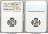 MACEDONIAN KINGDOM. Alexander III the Great (336-323 BC). AR drachm (17mm, 1h). NGC Choice XF. Posthumous issue of Lampsacus, ca. 310-301 BC. Head of ...