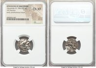 MACEDONIAN KINGDOM. Alexander III the Great (336-323 BC). AR drachm (18mm, 9h). NGC Choice XF. Posthumous issue of Lampsacus, ca. 310-301 BC. Head of ...