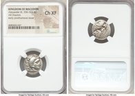 MACEDONIAN KINGDOM. Alexander III the Great (336-323 BC). AR drachm (17mm, 2h). NGC Choice XF. Posthumous issue of 'Colophon', ca. 319-310 BC. Head of...