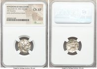 MACEDONIAN KINGDOM. Alexander III the Great (336-323 BC). AR drachm (17mm, 1h). NGC Choice XF. Sardes, ca. 323-319 BC. Head of Heracles right, wearing...