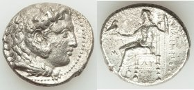 MACEDONIAN KINGDOM. Philip III Arrhidaeus (323-317 BC). AR tetradrachm (25mm, 16.66 gm, 1h). VF. Babylon, ca. 323-318/7 BC. Head of Heracles right, we...