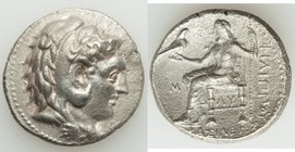 MACEDONIAN KINGDOM. Philip III Arrhidaeus (323-317 BC). AR tetradrachm (27mm, 12h). XF. Babylon. Head of Heracles right, wearing lion skin headdress, ...