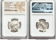 ATTICA. Athens. Ca. 440-404 BC. AR tetradrachm (24mm, 17.20 gm, 9h). NGC AU 5/5 - 4/5. Mid-mass coinage issue. Head of Athena right, wearing crested A...