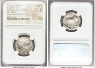 ATTICA. Athens. Ca. 440-404 BC. AR tetradrachm (23mm, 17.18 gm, 7h). NGC Choice XF 5/5 - 4/5. Mid-mass coinage issue. Head of Athena right, wearing cr...