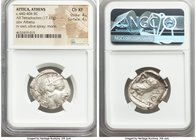 ATTICA. Athens. Ca. 440-404 BC. AR tetradrachm (25mm, 17.17 gm, 2h). NGC Choice XF 4/5 - 4/5. Mid-mass coinage issue. Head of Athena right, wearing cr...