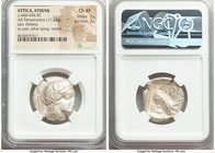 ATTICA. Athens. Ca. 440-404 BC. AR tetradrachm (24mm, 17.23 gm, 9h). NGC Choice XF 2/5 - 3/5. Mid-mass coinage issue. Head of Athena right, wearing cr...