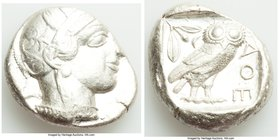 ATTICA. Athens. Ca. 440-404 BC. AR tetradrachm (22mm, 17.20 gm, 9h). VF. Mid-mass coinage issue. Head of Athena right, wearing crested Attic helmet or...