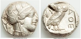 ATTICA. Athens. Ca. 440-404 BC. AR tetradrachm (23mm, 17.21 gm, 5h). XF, test cut. Mid-mass coinage issue. Head of Athena right, wearing crested Attic...