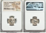 CARIAN ISLANDS. Rhodes. Ca. 250-205 BC. AR didrachm (20mm, 12h). NGC Choice VF. Ca. 250-229 BC, Agesidamos, magistrate. Radiate head of Helios, facing...