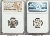 CARIAN ISLANDS. Rhodes. Ca. 250-205 BC. AR didrachm (20mm, 1h). NGC VF. Ca. 250-229 BC, Agesidamos, magistrate. Radiate head of Helios, facing slightl...