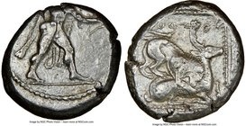 CYPRUS. Citium. Azbaal (ca. 449-425 BC). AR stater (21mm, 3h). NGC Choice VF. Heracles advancing right, wearing lion skin around shoulders, brandishin...