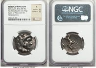 SELEUCID KINGDOM. Seleucus I Nicator (312-280 BC). AR tetradrachm (27mm, 16.95 gm, 10h). NGC Fine 4/5 - 3/5. Seleucia I (first workshop), ca. 300-296 ...
