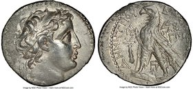 SELEUCID KINGDOM. Demetrius II Nicator (second reign, 129-125 BC). AR tetradrachm (29mm, 1h). NGC VF. Tyre, dated Seleucid Era 183 (130/9 BC). Diademe...