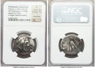 PTOLEMAIC EGYPT. Ptolemy I Soter (305/4-282 BC). AR tetradrachm (28mm, 13.98 gm, 12h). NGC Fine 5/5 - 1/5, smoothing, bankers marks. Alexandria, ca. 3...