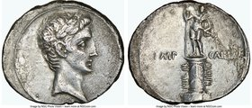 Octavian, as Sole Imperator (30-27 BC). AR denarius (20mm, 12h). NGC VF, brushed. Southern or central Italian mint, ca. 30-29 BC. Laureate head of Aug...