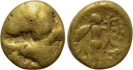 "CENTRAL EUROPE. Boii. GOLD 1/8 Stater (2nd century BC). ""Athena Alkis"" type."