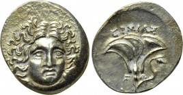 KINGS OF MACEDON. Perseus (179-168 BC). Drachm. Uncertain mint in Thessaly. Hermias, magistrate. Third Macedonian War issue.
