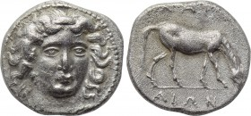 THESSALY. Larissa. Drachm (Early to mid 4th century BC).