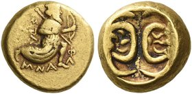 Alexandrine Empire, Satraps of Baylonia under Alexander III. Stamenes, 328-323. Double daric 328-323, AV 16.86 g. The Great King advancing r., holding...