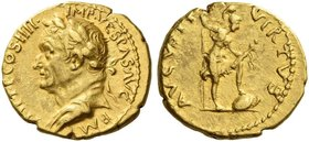 Vespasian, 69 – 79. Aureus, Antiochia 73, AV 7.42 g. IMP VESPAS AVG P M – TRI P P P COS IIII Laureate and draped bust l. Rev. VIRTVS – AVGVSTI Virtus ...