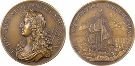Louis XIV, établissement et promotion de la Marine Royale, 1668 Paris (refrappe)