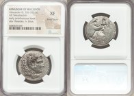 MACEDONIAN KINGDOM. Alexander III the Great (336-323 BC). AR tetradrachm (27mm, 6h). NGC XF, Fine Style. Late lifetime-early posthumous issue of 'Baby...