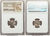 MACEDONIAN KINGDOM. Alexander III the Great (336-323 BC). AR drachm (16mm, 9h). NGC Choice XF. Posthumous issue of Lampsacus, ca. 320-305 BC. Head of ...
