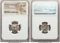 MACEDONIAN KINGDOM. Alexander III the Great (336-323 BC). AR drachm (18mm, 12h). NGC Choice XF. Posthumous issue of Magnesia, ca. 319-305 BC. Head of ...