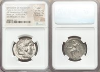 MACEDONIAN KINGDOM. Philip III Arrhidaeus (323-317 BC). AR tetradrachm (26mm, 17.04 gm, 12h). NGC AU 4/5 - 4/5, Fine Style. Lifetime issue of Sidon, d...