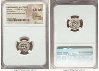MACEDONIAN KINGDOM. Perseus (179-168 BC). AR drachm (16mm, 7h). NGC Choice AU, brushed. Pseudo-Rhodian, Greek mercenaries issue, ca. 175-170 BC, Ainet...