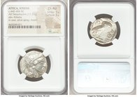 ATTICA. Athens. Ca. 440-404 BC. AR tetradrachm (24mm, 17.21 gm, 7h). NGC Choice AU 5/5 - 5/5. Mid-mass coinage issue. Head of Athena right, wearing cr...