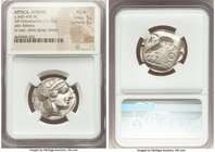 ATTICA. Athens. Ca. 440-404 BC. AR tetradrachm (25mm, 17.15 gm, 7h). NGC AU S 5/5 - 5/5. Mid-mass coinage issue. Head of Athena right, wearing crested...