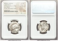 ATTICA. Athens. Ca. 440-404 BC. AR tetradrachm (24mm, 17.07 gm, 10h). NGC Choice XF 2/5 - 4/5. Mid-mass coinage issue. Head of Athena right, wearing c...