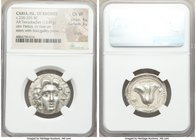 CARIAN ISLANDS. Rhodes. Ca. 230-205 BC. AR tetradrachm (26mm, 13.41 gm, 12h). NGC Choice VF 4/5 - 3/5, scuffs. Ameinias, magistrate. Radiate facing he...
