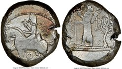 CILICIA. Tarsus. Ca. late 5th century BC. AR stater (20mm, 6h). NGC Fine. Ca. 440-400 BC. Satrap on horseback riding left, reins in left hand, lotus i...