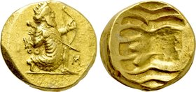 ALEXANDRINE EMPIRE. Time of Stamenes to Seleukos (Satraps of Babylon, circa 328-311 BC). GOLD Double Daric. Babylon.