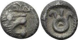 ASIA MINOR. Uncertain (520-480 BC). Hemiobol.
