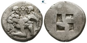 Islands off Thrace. Thasos circa 480-463 BC. Stater AR