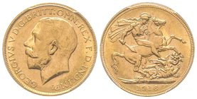 Australia, George V 1910-1936 Sovereign, Perth, 1916 P, AU 7.98 g. 917‰ Ref : Fr. 40 , KM#29, Spink 4001  PCGS MS63