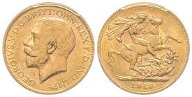 Australia, George V 1910-1936 Sovereign, Perth, 1919 P, AU 7.98 g. 917‰  Ref : Fr. 40, KM#29, Spink 4001  PCGS MS62