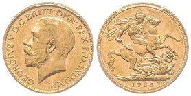 Australia, George V 1910-1936 Sovereign, Melbourne, 1925 M, AU 7.98 g. 917‰ Ref : Fr. 39, KM#29, Spink 3999  PCGS MS63