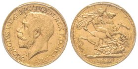 Canada, George V 1910-1936 Sovereign, 1911 C, Ottawa, AU 7.98 g. 917‰ Ref : Marsh 221, Fr. 2, KM#20, Spink 3997 PCGS MS62