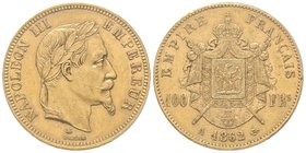 Second Empire 1852-1870 100 Francs, Paris, 1862 A, AU 32.25 g. Ref : G.1136, Fr. 581 PCGS MS61 Quantité : 6650 exemplaires