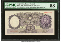 Argentina Banco Central 1000 Pesos 1935 28.3.1935 Pick 269b PMG Choice About Unc 58.   HID09801242017