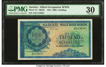 Austria Allied Military Authority 1000 Schilling 1944 Pick 111 PMG Very Fine 30. Minor repairs is mentioned.   HID09801242017