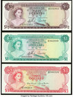 Bahamas Bahamas Government 1/2; 1; 3 Dollars 1965; 1968 Pick 17; 18; 28 Three Examples Crisp Uncirculated.   HID09801242017