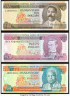 Barbados Central Bank 10; 20; 50 Dollars ND (1973; 1986) Pick 33; 39; 40 Crisp Uncirculated.   HID09801242017