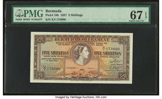 Bermuda Bermuda Government 5 Shillings 1.5.1957 Pick 18b PMG Superb Gem Unc 67 EPQ.   HID09801242017